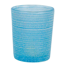 Teelichtglas Frost, Blau
