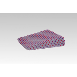 Licardo Keilkissen Therapiekeil Wolle Noppen 40 x 40 x8/1 cm silberfarben