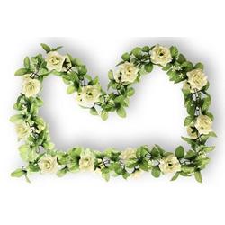 Basil Fahrradkorb BASIL Blumengirlande Rosen, weiß