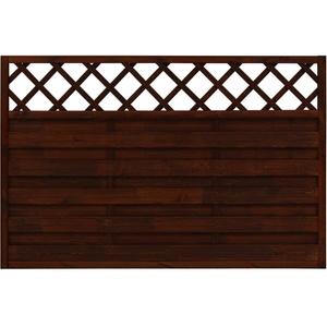Andrewex Sichtschutzzaun-Element Country Braun lasiert 120 cm x 180 cm