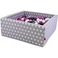 KNORRTOYS Bällebad soft grey white dots inkl. 100 Bälle creme/grey/rose