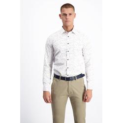 Lavard Weißes Hemd mit Mustern 93189