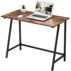 VASAGLE Schreibtisch LWD40X, Schreibtisch, Computertisch, 100 x 50 x 75 cm, vintage