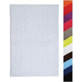 MSV MSV, Badteppich, Badvorleger Duschvorleger CHENILLE Hochflor Badematte 40x60 cm - weiß