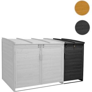 XL 1er-/2er-Mülltonnenverkleidung Erweiterung HWC-H75, Mülltonnenbox, 116x66x92cm Holz FSC-zertifizi