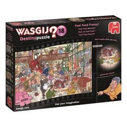 Jumbo Spiele Puzzle 19157 Wasgij Destiny 18 Fast Food Rausch, 1000 Puzzleteile bunt