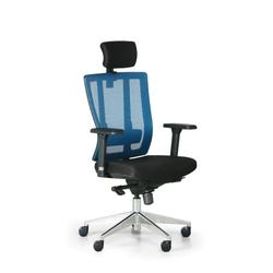 Bürostuhl metrim, schwarz/blau