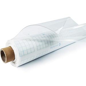 DecoMeister Tischbelag Tischabdekung Tischfolie Tischdecke Transparent Tischtuch Tischplattenschutz Vinyl-Tischdecke Küche abwaschbar Glasklarfolie Schutzfolie 130x130 cm Glasklar Stärke 0,1 mm