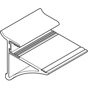Glastablarhalter 306 mm, für Wandsystem Labos silber eloxiert