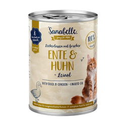 Sanabelle Nassfutter mit Ente & Huhn 400 g (Menge: 6 je Bestelleinheit)