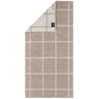 CAWÖ Luxury Home Two-Tone Grafik 604 Duschtuch 80 x 150 cm sand