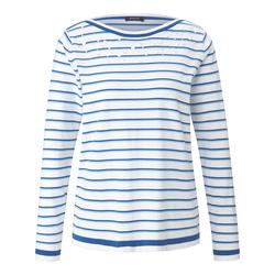 Streifenpullover mit langen Ärmeln Basler white-blue