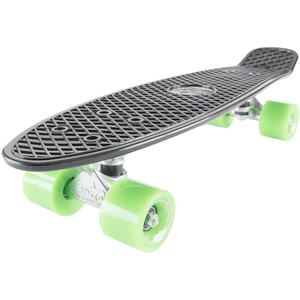 STAR-SKATEBOARDS Vintage Retro Cruiser Skateboard schwarz & grün