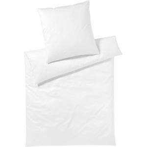 elegante Mako-Satin Bettwäsche Solid weiß