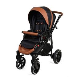 Clamaro Kombi-Kinderwagen, Kombikinderwagen Creativo als Set 3in1 inkl. babyschale, Babywanne, Sportaufsatz mit Gel Reifen braun