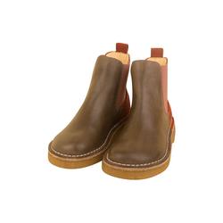 DULIS Bio Leder Chealsea Boots für Mädchen Stiefelette 32