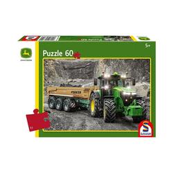 Schmidt Spiele Puzzle Puzzle John Deere Traktor 7310R, 60 Teile, Puzzleteile