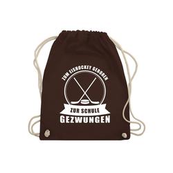 Shirtracer Turnbeutel Zum Eishockey geboren. Zur Schule gezwungen - Eishockey - Turnbeutel - Jutebeutel & Taschen, eishockey rucksack
