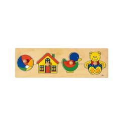 goki Steckpuzzle Holzpuzzle, 4 Teile, Puzzleteile