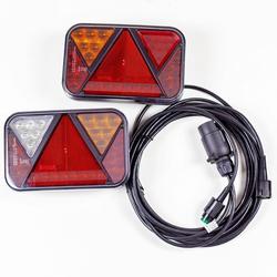 Rückleuchten Set: Rückleuchten LED Fristom FT-270 + 4 m 7-poliger Kabelbaum