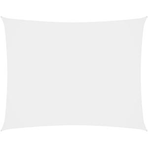vidaXL Sonnensegel Oxford-Gewebe Rechteckig 2x3m Weiß Sonnenschutz Windschutz