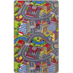 Kinderteppich Straße, Andiamo, rechteckig, Höhe 5 mm, Straßen-Spielteppich, Straßenbreite: 8,5 cm, Kinderzimmer 100 cm x 165 cm x 5 mm