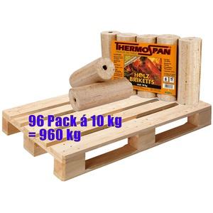 1 Palette Thermospan Holzbriketts Premium 960 kg (96 Pack á 10 kg)