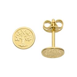 JOBO Paar Ohrstecker Lebensbaum, 333 Gold