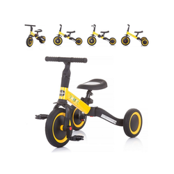 Chipolino Dreirad Dreirad Laufrad Smarty 2 in 1, Laufrad Gummireifen umbaubar Pedale verstellbar gelb