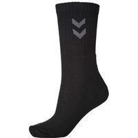 hummel Unisex Socken 3er-Pack Basic, Schwarz (Black), 14 (46 - 48), 220302001