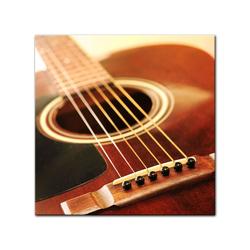 Bilderdepot24 Leinwandbild, Leinwandbild - Gitarre 80 cm x 80 cm