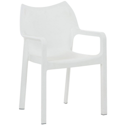 CLP Gartenstuhl Diva Kunststoff-Gartenstuhl mit Armlehnen weiß