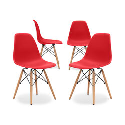 Premium Deswick Stuhl - Matt - Pack von 4 Rot