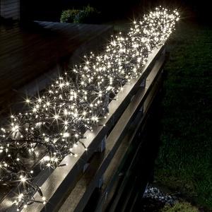 Konstsmide LED-Büschellichterkette Cluster, warmweiß 12m (960 LEDs), 8 Funktionen