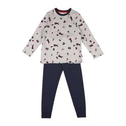 SANETTA Pyjama rot / grau / blau, Größe 116, 5049735