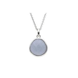 Smart Jewel Kette mit Anhänger mit Halbedelstein, Silber 925 blau
