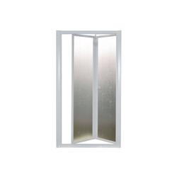 Nischentür, Nischendusche, Duschwand, Domi, Acryl-Glas / Kunststoff, Fb. weiss 97-104 cm