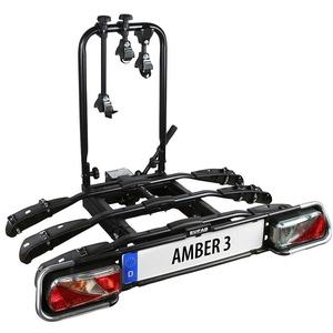 EUFAB Fahrradträger AMBER 3, für die Anhängerkupplung schwarz