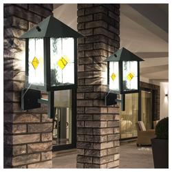 etc-shop LED Wandleuchte, 2er Set 7 Watt LED Außen Fassaden Wand Leuchte Tiffany Balkon Garten Haus Lampe