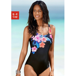 LASCANA Badeanzug, mit eleganter Raffung und Print 48