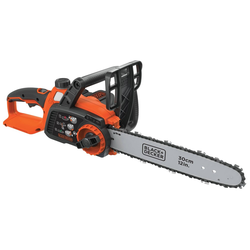 """BLACK+DECKER 40V MAX Lithium Chainsaw with 12"""" Oregon Bar and Chain and Tool Free Tensioning - Orange Sorbet"""