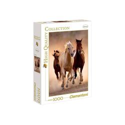 Clementoni® Puzzle Clementoni - Running Horses, 1000 Teile Puzzle, 1000 Puzzleteile