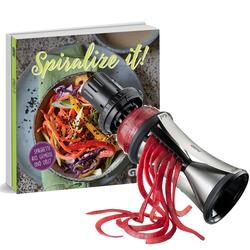 Gefu Spiralschneider Spirelli XL + Kochbuch Spiralize it!