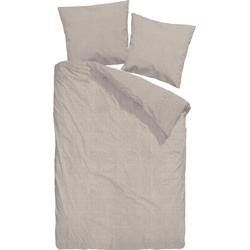 Bettwäsche Uni-Halbleinen, Schloß Holte, beige