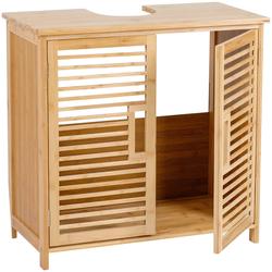 axentia Waschbeckenunterschrank Waschbeckenunterschrank, Bambus Maße: ca. 60 x 58 x 30 cm