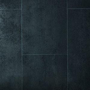 livingfloor® PVC Bodenbelag Fliese Anthrazit 2m Breite, Länge variabel Meterware, Größe:1 Muster/Sample