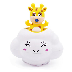 kueatily Badewannenspielzeug Wasserspielzeug für Kinder, Regenspielzeug, Spielzeug für die Babywanne Badeplüschtier gelb 8 cm x 12.5 cm x 14.5 cm