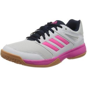 adidas Damen Speedcourt W Volleyball-Schuh, FTWR White/Shock Pink/Collegiate Navy, 44 2/3 EU