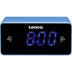Lenco CR-520 Radiowecker UKW AUX, USB Akku-Ladefunktion Blau