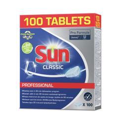 SUN Professional Classic Tabs Spülmaschinentabs, Geschirrreiniger-Tabs mit hohem Wirkungsgrad, 1 Packung = 100 Tabs